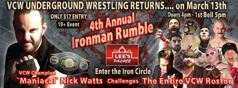Hogtown Wrestling - New concept announced for 2016 Ironman Rumble